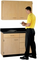 "Picture of 48""W Cabinetry Suite SA016, Two Door Wall Unit, Base Unit with Countertop"