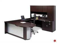 Picture of Aramis Contemporary Veneer U Shape Office Desk Workstation