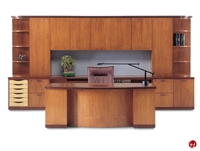 Picture of Aramis Contemporary Veneer Executive Office Desk Workstation ,Storage Credenza