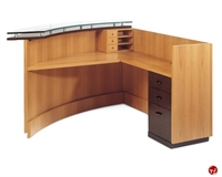 Picture of Aramis Contemporary Veneer L Shape Office Reception Desk Workstation