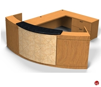 Picture of Contemporary Veneer L Shape Reception Office Desk Workstation