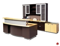 Picture of Contemporary Veneer Executive Office Reception Desk Workstation