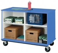 "Picture of 36""H Divided Shelf Mobile Storage Cabinet"