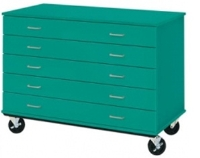"Picture of 36""H Mobile Five Drawer Storage Cabinet"