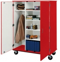 "Picture of 67""H Closed Mobile Wardrobe Combo Storage Cabinet"