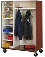 "Picture of 67""H Open Mobile Coat Combo Storage Cabinet"