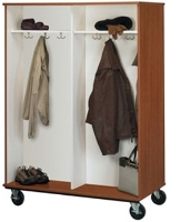 "Picture of 67""H Open Mobile Double Sided Coat Storage Cabinet"