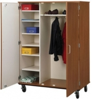 "Picture of 67""H Closed Mobile Coat Combo Storage Cabinet"