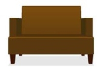 Picture of Valore Alba 6142, Reception Lounge 2 Seat Loveseat Sofa