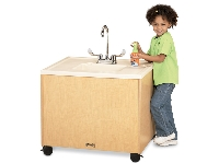 Picture of Jonti Craft 1361JC011, Mobile Portable Sink - Stainless Steel