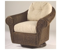 Picture of Whitecraft Bravo S395015, Outdoor Wicker Cushion Swivel Lounge Chair
