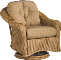 Picture of Whitecraft Giardino S391015, Protected Outdoor Wicker /Cushion Swivel Lounge Chair