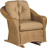 Picture of Whitecraft Giardino S391071, Protected Outdoor Wicker /Cushion Glider Chair