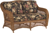 Picture of Whitecraft Empire S241821, Protected Outdoor Wicker /Cushion Loveseat Chair