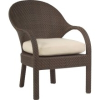 Picture of Whitecraft Bali S533501,All Weather Outdoor Wicker Dining Chair, Seat Pad