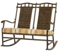 Picture of Whitecraft Chatham Run S525806, Outdoor Wicker Double Rocker Chair, Seat Pad