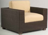 Picture of Whitecraft Montecito S511001, All Weather Outdoor Wicker Cushion Lounge Chair