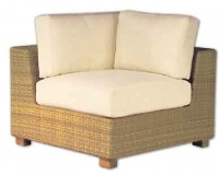 Picture of Whitecraft Montecito S511021, Outdoor Wicker Cushion Corner Sectional Chair