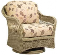 Picture of Whitecraft Nantucket S560015, Outdoor Wicker Cushion Swivel Lounge Chair