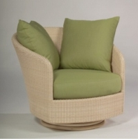 Picture of Whitecraft Oasis S507015, Outdoor Wicker Cushion Swivel Lounge Chair