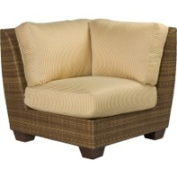 Picture of Whitecraft Saddleback S523051, Outdoor Wicker Cushion Corner Sectional Chair