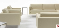 Picture of Cubic 1 Reception Lounge Lobby Two Seat Loveseat Sofa