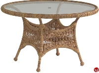 """Picture of Whitecraft Sommerwind S596602, Outdoor Wicker 48"""" Round Umbrella Dining Table"""