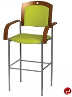 Picture of Amanada Contemporary Cafeteria Dining Armed Barstool