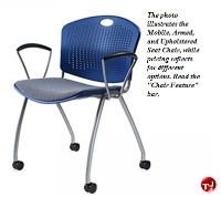 Picture of Anytime Guest Side Reception Plastic Mobile Armless Chair