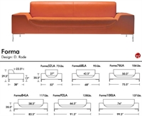 Picture of Aceray Forma 84, Contemporary Reception Lounge Lobby Sofa