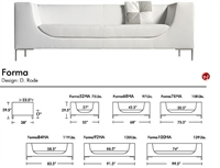 Picture of Aceray Forma 92, Contemporary Reception Lounge Lobby Sofa