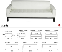 Picture of Aceray MODO 84, Contemporary Reception Lounge Lobby Tufted Sofa