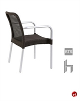 Picture of Aceray FILO, Outdoor Aluminum Wicker Stacking Arm Chair