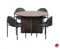 "Picture of 42"" Laminate Round Conference Table with 4 Stack Chairs"