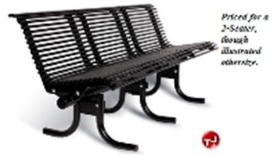 Picture of 800S-RS2 Outdoor Stainless Steel 2 Seat Palmetto Bench