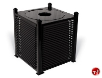 Picture of Outdoor Palmetto 32 Gallon Steel Trash Receptacle, Plastic Liner