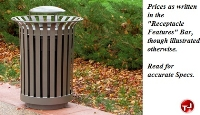 Picture of Outdoor LX-36 Lexington , 36 Gallon Steel Trash Receptacle with Plastic Liner