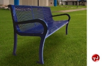 """Picture of Lexington 954, 72"""" Outdoor Cast Aluminum - Steel Bench with Back"""