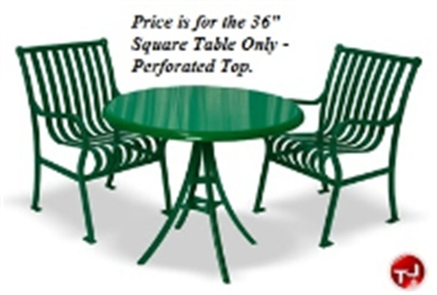 """Picture of Hamilton 364, Outdoor Stainless Steel 36"""" Square Cafeteria Dining Table"""