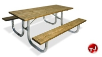 "Picture of Outdoor 238 Picnic Bench Table, 72"" Extra Heavy Duty Pine Table"