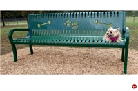 "Picture of Bark Park Outdoor 72"" Lexington Pooch Perch Bench, Paw Prints"