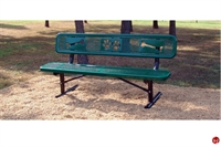 "Picture of Bark Park Outdoor 72"" Portable Sit & Stay Bench, Paw Prints"
