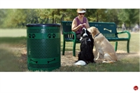 Picture of Bark Park Tidy Up Trash Receptacle, Laser Cut Paw Prints
