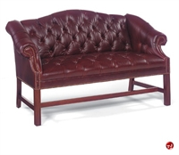 Picture of Fairfield 1801 Reception Lounge Lobby Traditional Tufted 2 Seat Loveseat Sofa