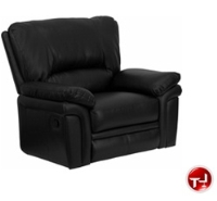 Picture of Bariatric Plush Black Leather Recliner