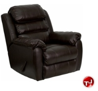 Picture of Bariatric Plush Brown Leather Rocker Recliner