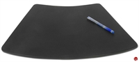 "Picture of Dacasso P1024 Conference Pad Black Leather Deskpad, 17"" x 14"""