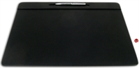"Picture of Dacasso P1029 Conference Pad Black Leatherette Deskpad, 17"" x 14"""