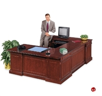 Picture of DMI Keswick 7990-37 Traditional Veneer Executive U Shape Office Desk Workstation
