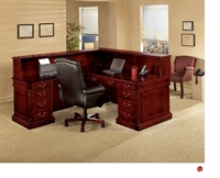 Picture of DMI Keswick 7990-66 Traditional Veneer L Shape Reception Desk Workstation